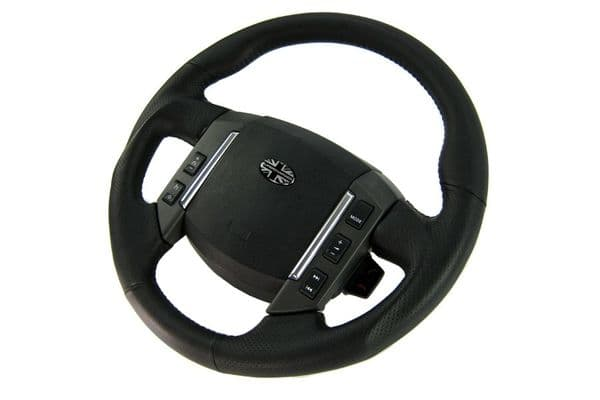 Genuine Land Rover Discovery 3 Steering Wheel - Black Napa Perforated Leather (Sports Grip)