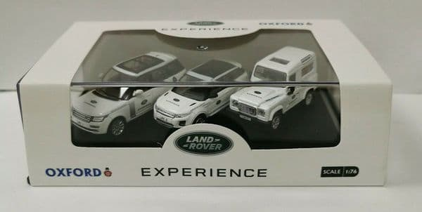 Genuine Oxford Land Rover Experience 3 Car Set 1-76 Scale 76set59