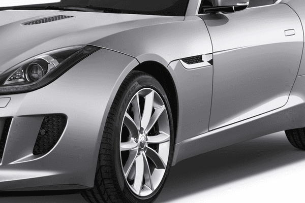 Jaguar F-Type AWD Chrome With Black Mesh Front Wing Vents