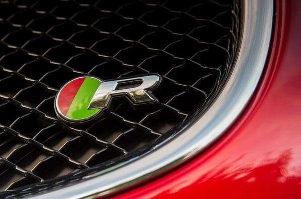 Jaguar R Grille Badge With Fixing - Style 1