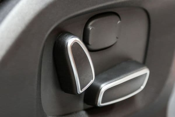 Jaguar XF Interior Seat Button Covers - Silver & Black