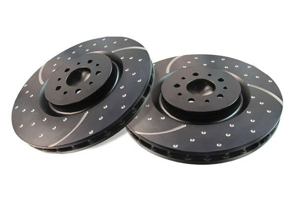 XK8/XKR EBC GD Slotted & Dimpled Sports Front Disc Brake Upgrade