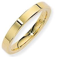 18ct Gold 3mm Flat Court Wedding Band