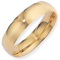 18ct Gold 6mm Court Band