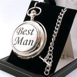 BEST MAN skeleton mechanical pocket watch, PERSONALISED ref PWBM