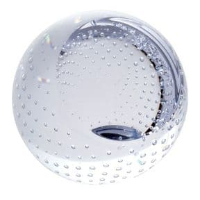 Caithness Glass Bubble Paperweight Clear, PERSONALISED ref CCBP