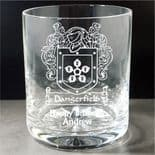 Coat of Arms / Family Crest Whisky Glass, ref PCCW