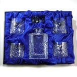 Crystal Decanter Whisky Set, 4 glasses, Personalised, ref CDS4