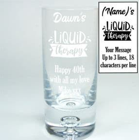 G&T Personalised Glass Liquid Therapy, ref LTGT