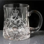 Military Emblem Small Crystal Tankard UK Forces ref CHMT