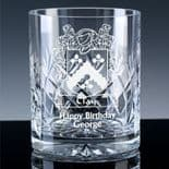 Personalised Family Crest Whisky Glass, ref FCWE