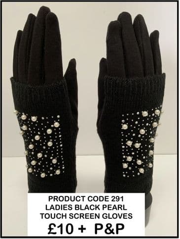 TC 291 LADIES BLACK PEARL GLOVES