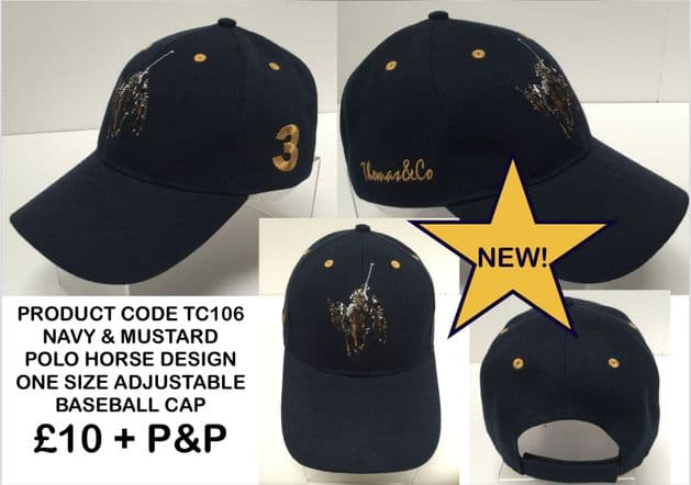 TC106 BASEBALL CAP WITH POLO HORSE MUSTARD EMBROIDERY