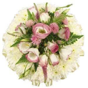 Based Pink Funeral Posy