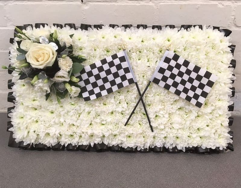 Chequered Flag Funeral Tribute