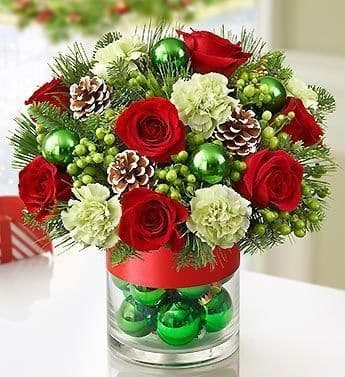 Christmas Bauble Flowers