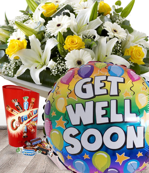 Get Well Soon Flowers Set