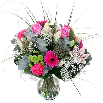 Pink Delight Handtied|Essex Florists|Blossom Florists|Special offers