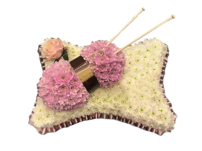 Knitting Funeral Pillow