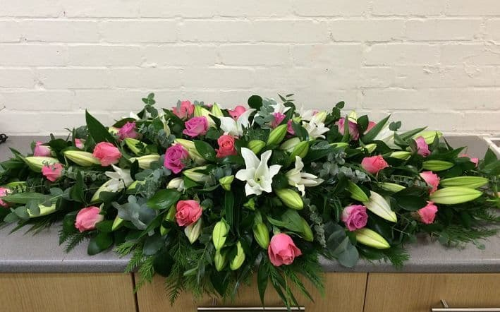 Lily and Rose Funeral Spray