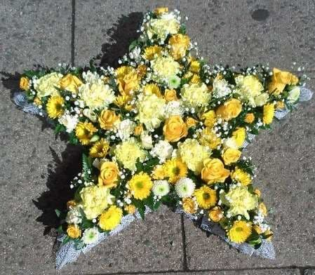 Open Funeral Star Tribute|Blossom Florists Funeral Flowers range of Funeral Star