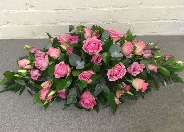 A Pink Double Ended Funeral Spray|Blossom Florists for Stunning Funeral Flowers