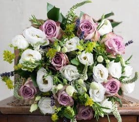 Roses and Lisianthus Hand-tied