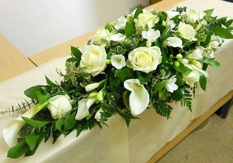 Roses & lilys Funeral Spray