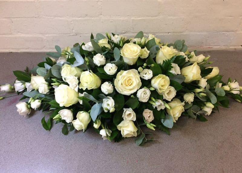 Roses & Lisianthus Funeral Spray
