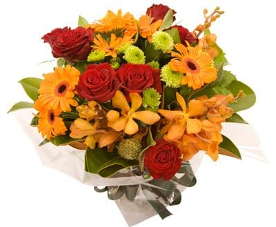 Warm Sunset Hand-tied|Florists in Essex|Blossom Florists Chelmsford