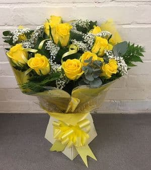 Yellow Roses Hand-tied