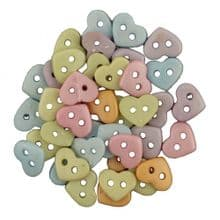 Buttons Galore - Hearts Pastel