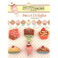 Buttons Galore - Sweet Delights - Decadent Deserts