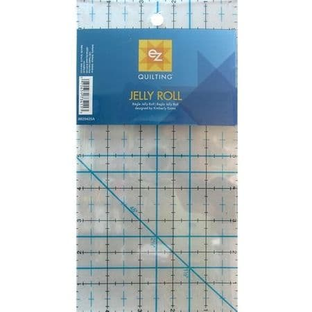 EZ QUILTING . JELLY  ROLL RULER ... Simpli EZ 8829425  ... P+P/BORDER OFFER ....ACRYLIC TEMPLATE