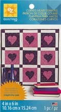 EZ Quilting Curved Heart   FREE P+P BORDER OFFER  Plastic Template Sheet Rulers