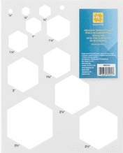 EZ  SIMPILCICY SALE QUILTING  RULERS AND TEMPLATES - HEXAGON SHEET  £5.29