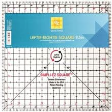 EZ SIMPLICITY  TEMPLATES RULERS  LEFTIE  RIGHTIE  9.5 INCH PATCHWORK QUILTING  SQUARE