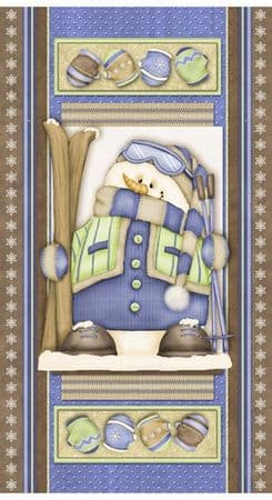 QUILT PANEL HENRY GLASS  SNOW MUCH FUN  PREMIUM BRUSHED COTTON/FLANNEL ONLY  £6.90