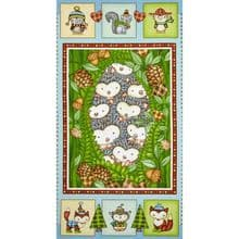 QUILT PANEL  SALE HEDGEHUGS  BETH LOGAN HENRY GLASS  PREMIUM  COTTON PATCHWORK .........  ONLY £5.90