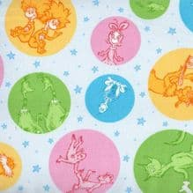 ROBERT KAUFMAN Dr SEUSS   CHARACTER DOTS  PREMIUM PATCHWORK 100%COTTON .. ONLY £4.50  PER HALF YARD
