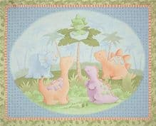 SPRINGS  CREATIVE PANEL- CUTE A  SAURAUS  CHLDRENS QUILTING  100% COTTON  ONLY £6.90