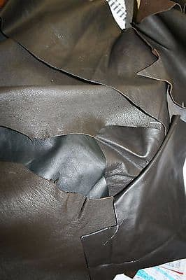 12 Pieces of Mixed Craft Leather Suede Lamb Cow Scraps, Offcuts, Repair Patches