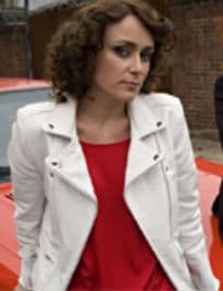 Ashes to Ashes' White Biker Jacket