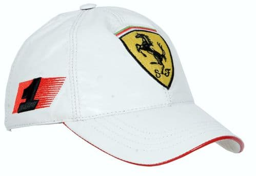 Leather Baseball Cap Ferrari inspired