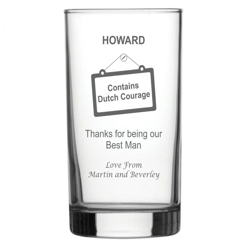 Personalised Hiball Glass - Best Man Dutch Courage