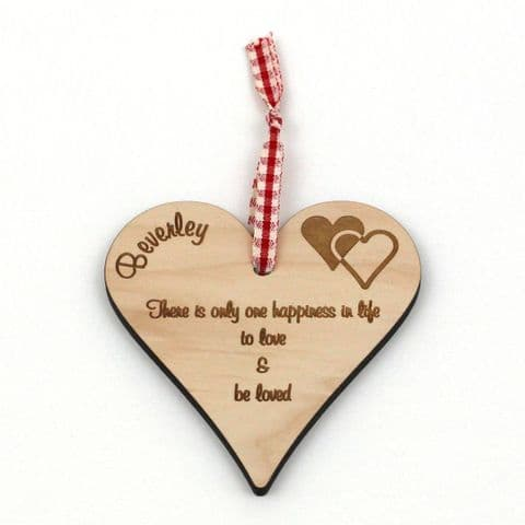 Personalised Maple Plaque - There Is Only One Happiness