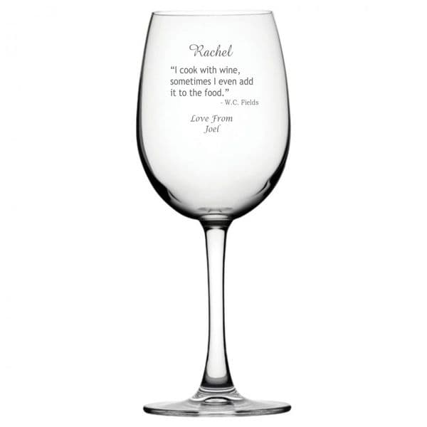 Personalised Wine Glass - Cook With Wine