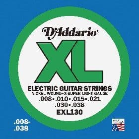 D'Addario EXL & EJ21 Electric Guitar Strings - Jazz / Blues, Light Top - Heavy Bottom