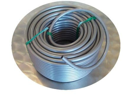 4mm I.D. Plastic Silver Grey Tubing For Mechanical Organ Building