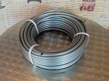 9.5mm I.D. Plastic Silver Grey Tubing For Mechanical Organ Building